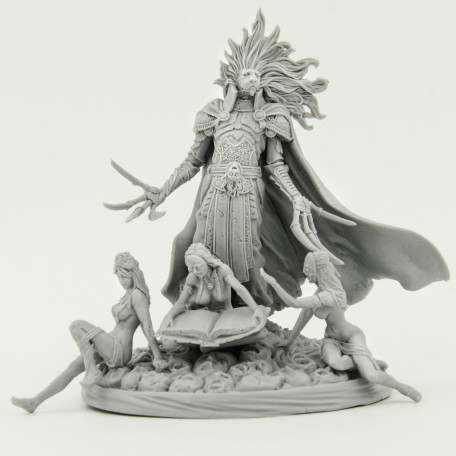 Kingdom Death Lion Knight 2nd Limited Release photo front with girls