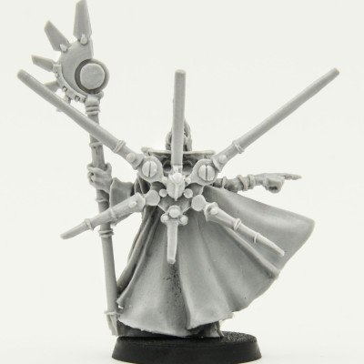 Warhammer 40k Tau Ethereal With Honour Blade catalog photo back
