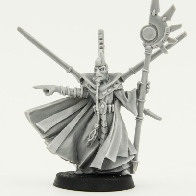 Warhammer 40k Tau Ethereal With Honour Blade catalog photo front