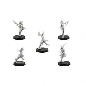 Daemonettes (5 models) of Slaanesh (Old and Rare) Chaos