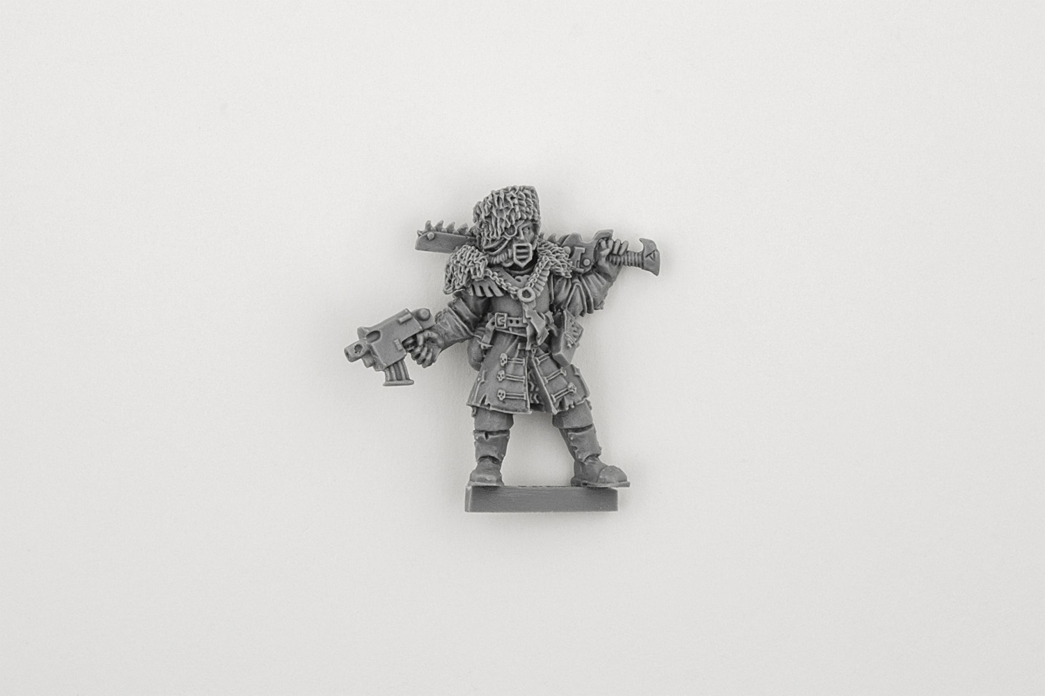 Vostroyan Scions: Vostroyan Officer With Chainsword
