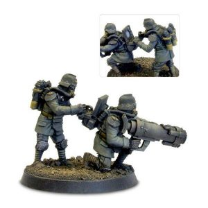 Death Korps of Krieg Engineers with Mole Launcher