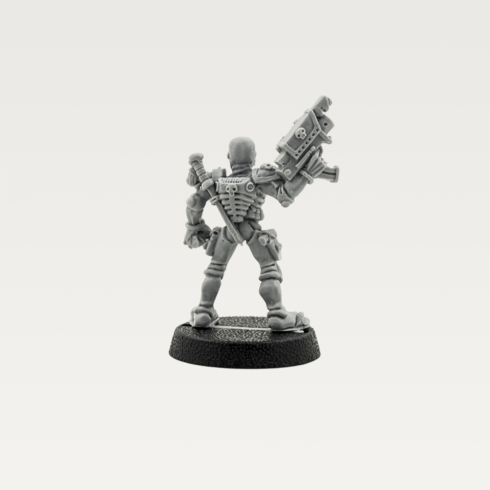 Warhammer 40K Imperial Guard Inquisition Rogue Trader Assassin Metal Rare Used