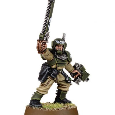 Cadian Officer with Chainsword 1