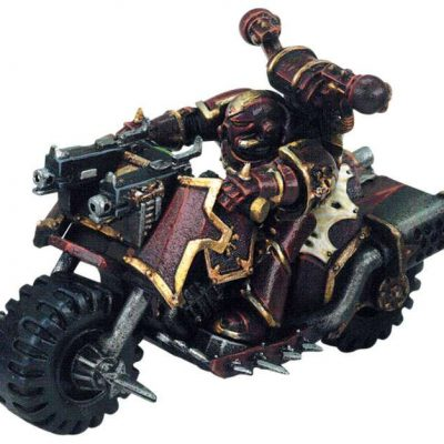 Chaos Space Marine on Assault Bike