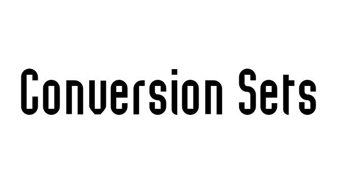 Conversion Sets