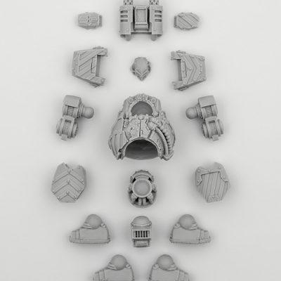 Iron Warriors Legion Contemptor Dreadnout (Body)