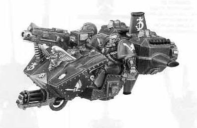 Dark Angels Ravenwing Land Speeder (Total Reconstruction)