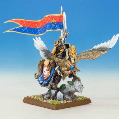King Louen Leoncoeur on Hippogriff Beaquis
