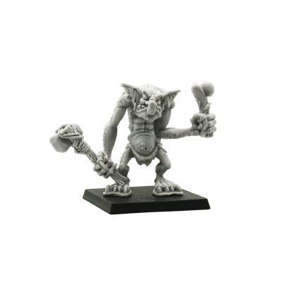 Stone Troll with Stone Axe and Bone Club