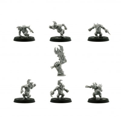 The Scarcrag Snivellers – Goblin Blood Bowl Team*6