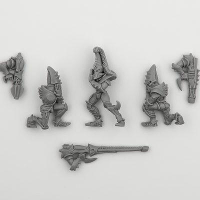 Dark Eldar Warriors with Assault Weapon 1999
